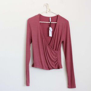 NWT Z Supply Micro Ribbed Wrap Top